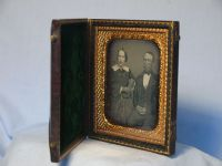 '    Victorian Couple in Ornate Case ' Vintage Tintype Image in Book £39.99